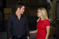 Chris Pine as FDR Foster and Reese Witherspoon as Lauren in ``This Means War.''