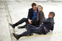Chris Pine as FDR Foster, Reese Witherspoon as Lauren and Tom Hardy as Tuck in ``This Means War.''