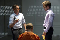 Tom Hardy as Tuck and Chris Pine as FDR Foster in ``This Means War.''