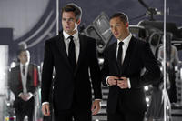 Chris Pine as FDR Foster and Tom Hardy as Tuck in ``This Means War.''