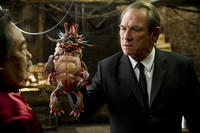 Keone Young as Mr. Wu, Spiky Bulba and Tommy Lee Jones as Agent K in ``Men in Black 3.''