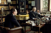 Michael Fassbender as Carl Jung and Viggo Mortensen as Sigmund Freud in ``A Dangerous Method.''