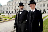 Viggo Mortensen as Sigmund Freud and Michael Fassbender as Carl Jung in ``A Dangerous Method.''