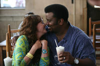 Virginia Madsen as Lorraine and Craig Robinson in ``Father of Invention.''