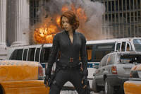 Scarlett Johansson as Black Widow in ``The Avengers.''