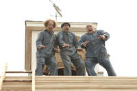 Sean Hayes as Larry, Chris Diamantopoulos as Moe and Will Sasso as Curly in ``The Three Stooges.''
