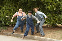 Will Sasso as Curly, Chris Diamantopoulos as Moe and Sean Hayes as Larry in ``The Three Stooges.''