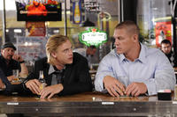 Boyd Holbrook as Douglas Cleary and John Cena as Sam Cleary in ``The Reunion.''
