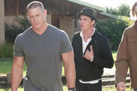 John Cena as Sam Cleary and Ethan Embry as Leo Cleary in ``The Reunion.''
