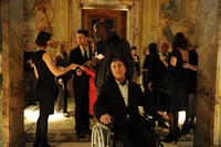 Omar Sy as Driss and Francois Cluzet as Philippe in ``The Intouchables.''