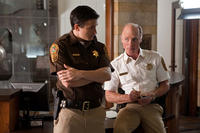 Alex Frost as Josh and Ed Harris as Sheriff Dick Tipton in ``Virginia.''
