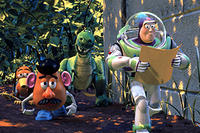 Slinky Dog, Mr. Potato Headr, Rex and Buzz in Disney's Toy Story 2