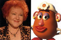 Estelle Harris as the voice of Mrs. Potato Head in Disney's Toy Story 2