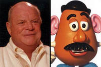 Don Rickles as the voice of Mr. Potato Head in Disney's Toy Story 2