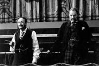 Allan Corduner as Sir Arthur Sullivan and Jim Broadbent's as W.S. Gilbert in
