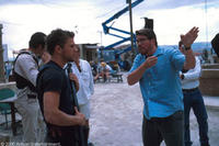 Ryan Phillippe and director Chris McQuarrie on the set in