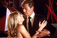 Britt Ekland and Roger Moore in