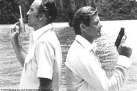 Christopher Lee and Roger Moore in