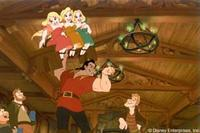 Village heartthrob Gaston demonstrates his manliness by