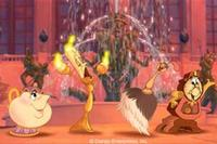 Mrs. Potts, Lumiere, a Feather Duster and Cogsworth - express their desire to be