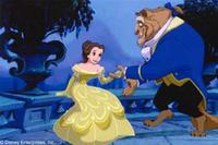 A smart and attractive beauty named Belle (left) yearns for adventure and finds the man of her dreams in the body of a Beast (right).