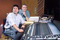 Songwriters Howard Ashman (right) and Alan Menken (left).