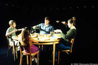 Time slice photography shot of a dinner table in