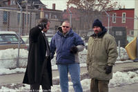 Ray Liotta, writer/director Joe Carnahan and Jason Patric on the set of