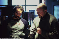 Jason Patric and writer/director Joe Carnahan on the set of