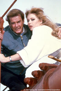 Roger Moore and Tanya Roberts in
