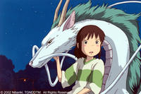 Chihiro meets Haku, a mysterious youth who can turn into a dragon to serve the sorceress Yubaba.