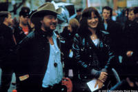Bruce McDonald and Juliette Lewis on the set of