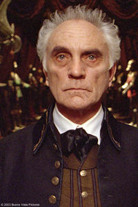 "Terence Stamp stars as Ramsley in ""The Haunted Mansion."""