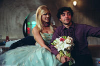 David Krumholtz portrays Mr. Universe and Nectar Rose plays Lenore, his blushing robotic bride in