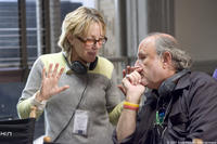 Producers Laura Ziskin and Avi Arad on the set of