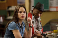 HILARY SWANK as Maggie and MORGAN FREEMAN as Scrap in Warner Bros. Pictures' drama