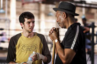 JAY BARUCHEL as Danger Barch and MORGAN FREEMAN as Scrap in Warner Bros. Pictures' drama