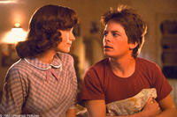 Lea Thompson and Michael J. Fox in