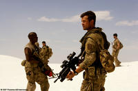 USAF Master Sgt. Epps (Tyrese Gibson) and Captain Lennox (Josh Duhamel) on patrol in Qatar in