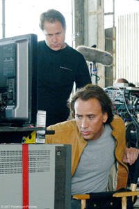 Nicolas Cage on the set of