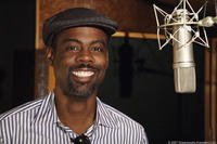 Chris Rock on the set of