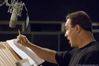 Patrick Warburton on the set of