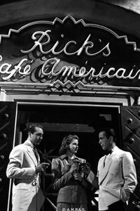 Paul Henreid, Humphrey Bogart and Ingrid Bergman in