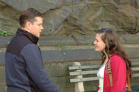 Matt Damon as Mr. Aaron and Anna Paquin as Lisa Cohen in ``Margaret.''