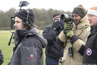 Director Edgar Wright on the set of