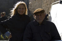 Producers Martha Schumacher and Dino De Laurentiis on the set of the film