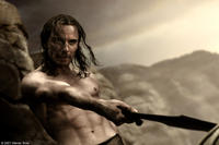 Stelios (Michael Fassbender) refuses the Persian Emissary's demand of a Spartan surrender in