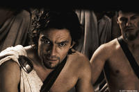 Dominic West portrays Theron, a Spartan politician with a hidden agenda in