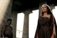 Gorgo (Lena Headey) makes an impassioned plea before the Spartan council in