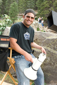 Director Walt Becker on the set of